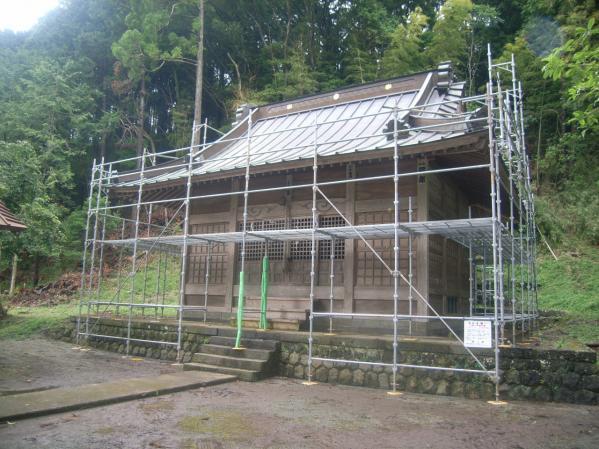 裾野市下和田神社改修工事:眞田建設